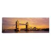 iCanvas Panoramic Tower Bridge London England Photographic Print on Canvas