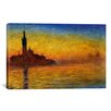 iCanvas Twilight in Venice Canvas Wall Art by Claude Monet
