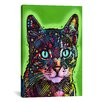 iCanvas 'Watchful Cat' by Dean Russo Graphic Art on Canvas