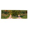 iCanvas Panoramic Two Dirt Roads Passing Through Farms in Autumn Photographic Print on Canvas