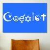 iCanvas Political Coexist Symbols Graphic Art on Canvas