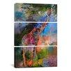 iCanvas Richard Wallich Giraffe 3 Piece on Wrapped Canvas Set