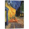 """iCanvas """"The Cafe Terrace on the Place du Forum, Arles, at Night 1888"""" by Vincent Van Gogh Painting Print on Canvas"""