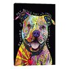 """iCanvas """"Beware of Pit Bulls"""" by Dean Russo Graphic Art on Wrapped Canvas"""