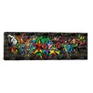 iCanvas Character Lineup Comic Logo BG by Marvel Comics Graphic Art on Canvas