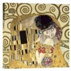 Bentley Global Arts 'The Kiss' by Gustav Klimt Painting Print on Canvas