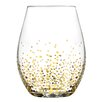Fitz and Floyd Gold Luster 20 Oz. Stemless Wine Glass (Set of 4)