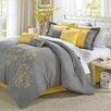 Chic Home Floral 8 Piece Comforter Set