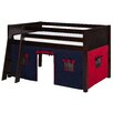 Camaflexi Low Loft Bed with Playhouse