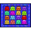 Kids World Carpets Blue Silly Seats Area Rug