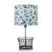 "AHS Lighting Mary Janes Farm Holland Basket 24"" H Table Lamp with Drum Shade"