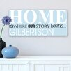JDS Personalized Gifts Personalized Where Our Story Print on Wrapped Canvas