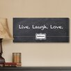 JDS Personalized Gifts Personalized Gift Live, Laugh, Love Chalkboard Textual Art on Canvas