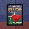 JDS Personalized Gifts Personalized Gift Beer Pong Traditional Framed Graphic Art