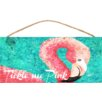 My Island Flamingo Sign Wall Decor