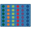 Kids Value Rugs Blue Seating Circles Area Rug