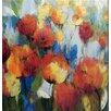 North American Art 'Meadow Flowers Wrapped Canvas' by Asia Jensen Framed Painting Print