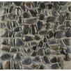Bedrosians Hemisphere Stone Pebble Tile in Panther Black