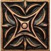 """Bedrosians Ambiance Insert Rising Star 2"""" x 2"""" Resin Tile in Venetian Bronze"""