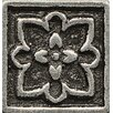 """Bedrosians Ambiance Insert Romanesque 1"""" x 1"""" Resin Tile in Pewter"""
