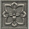 """Bedrosians Ambiance Insert Romanesque 4"""" x 4"""" Resin Tile in Pewter"""