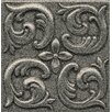 """Bedrosians Ambiance Insert Wave 4"""" x 4"""" Resin Tile in Pewter"""