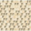 "Bedrosians Tessuto 0.75"" x 1"" Stone and Glass Mosaic Tile in Beige"