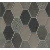 Bedrosians Panache Glass and Stone Mosaic Tile in Velvet