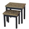 Gallerie Decor Wovenwood 2 Piece Nesting Tables