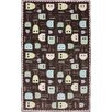 American Rug Craftsmen Crib 2 College Baby Owls Brown Area Rug