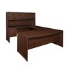 "Regency Sandia Bow Front ""U"" Executive Desk with Hutch"