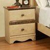 Sandberg Furniture Casa Blanca 2 Drawer Nightstand