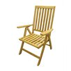 D-Art Collection Teak Position Dining Arm Chair