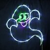 """Queens of Christmas 18"""" Halloween Ghost with 35 Multicolored Lights"""