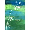 Maxwell Dickson 'Osaka Green' Asian Painting Print on Wrapped Canvas