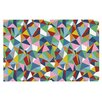 KESS InHouse Abstraction Rainbow Abstract Doormat