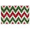 KESS InHouse Christmas Gram Chevron Doormat