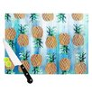 KESS InHouse Pineapple Beach by Nikki Strange Cutting Board