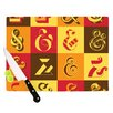 KESS InHouse Ampersands by Roberlan Typography Cutting Board