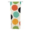 KESS InHouse Retro Dots Curtain Panels (Set of 2)
