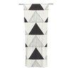 KESS InHouse Textured Triangles Curtain Panels (Set of 2)