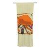 KESS InHouse Playful Octopus Curtain Panels (Set of 2)