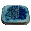 KESS InHouse Mosaic in Cyan by Frederic Levy-Hadida Coaster (Set of 4)