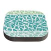 KESS InHouse Bamboo by Pom Graphic Design Coaster (Set of 4)