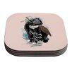 KESS InHouse Black Magic by Mat Miller Abstract Cat Coaster (Set of 4)
