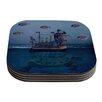 KESS InHouse The Voyage by Suzanne Carter Coaster (Set of 4)