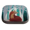 KESS InHouse Fox Forest by Lydia Martin Coaster (Set of 4)