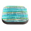 KESS InHouse Fancy Stripes by Frederic Levy-Hadida Coaster (Set of 4)