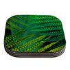 KESS InHouse Forest Fern by Alison Coxon Plant Coaster (Set of 4)