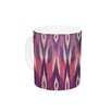 KESS InHouse Purple Ikat by Amanda Lane 11 oz. Lavender Ceramic Coffee Mug